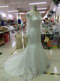 Пригонка и пирофакел видят до конца заднее платье венчания с втулкой Tulle