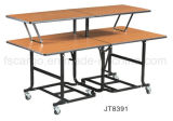 Four Edge Folding Design (JT8378)를 가진 멜라민 Top Finished Table