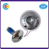DIN/ANSI/BS/JIS Stainless-Steel Carbon-Steel/4.8/8.8/10.9 Hexgon à plat se dispenser de la vis en acier galvanisé pour la construction/Railway