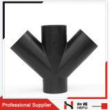 평등 4 웨이 지점 파잎 HDPE 플라스틱 파이프 피팅