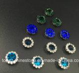 Rhinestone vendedor caliente del cristal de 9m m en la costura en Strass con el Rhinestone de la configuración de la garra (TP-9mm todo el cristal redondo del zafiro)