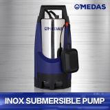 Boîtier en acier inoxydable et plastique énorme pompe submersible de débit