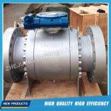 Vávula de bola industrial de flotación del acero inoxidable del borde del gas del API