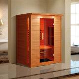 Stanza di legno di sauna del Hemlock con il riscaldatore di vetro rosso 2950W (K9768)