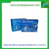 Изготовленный на заказ коробки упаковки бумаги благосклонности продают коробку в розницу продукта упаковывая