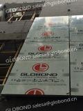 El panel compuesto de aluminio metálico de plata de Globond PF-422