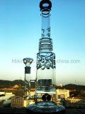 Inventario de cristal de los tubos de agua del color del tazón de fuente del arte del cenicero de Shisha de la cachimba del reciclador de cristal alto del Borosilicate para la cachimba del consumo de tabaco