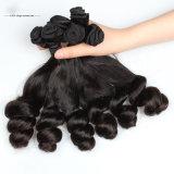 Cabelo do Indian do Virgin do Weave da peruca do cabelo humano da venda por atacado 100%