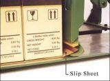Empujar y tirar de las hojas de resbalón de la cartulina de las tabulaciones para el embalaje