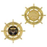Moneta di oro principale personalizzata promozione del blu marino
