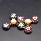 Nuevo diseño de la mano de fútbol de dedos Fidget Spinner Spinner Spinner con luz LED