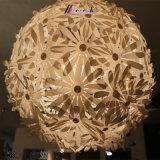 Pingente decorativo de bola de flor de plástico