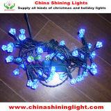 8개의 기능 관제사 섬광 꾸준한 크리스마스 LED 끈 빛