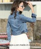Mujeres de alta calidad corta salvaje chaqueta de mezclilla de moda femenina chaqueta