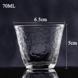De vidro borossilicato de alta xícara de chá Chá vidro Pyrex chávena de chá de vidro Shot Cup Copa do chá feitos à mão