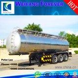 50cbmアルミ合金の燃料タンクのトレーラーの石油タンカー