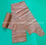 Pebd en plastique marron écologique grand sac poubelle sur rouleau