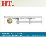 Commande numérique par ordinateur usinant l'ajustage de précision en laiton moulé de chapeau de pipe de qualité (PAP)