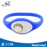 El control de acceso RFID TM carda el Wristband del silicón de Ibutton