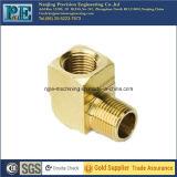 Conexión de cobre amarillo de la entrerrosca del tubo del CNC de la alta precisión que trabaja a máquina
