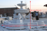 Decoration (NS-308)를 위한 백색 Marble Stone Carving Fountain