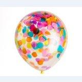 Parte globo con confeti para decoración de fiesta