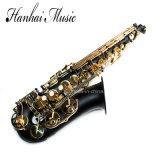 La musique Hanhai / noir Saxophone alto Clé avec Eb