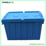 Movendo o transporte de negócios empilháveis Caixa de plástico com tampa