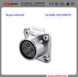 20A Effektivwert IP67 Watertight 4 Pin Aviation Connector