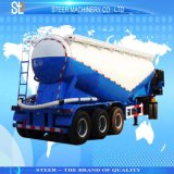 トレーラーのセメント・サイロのタンカーのトレーラーを半運ぶ乾燥したバルクセメント