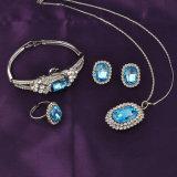 Conjunto determinado de la joyería de la manera de Wholale del zafiro de Austrial de los granos magníficos del cristal