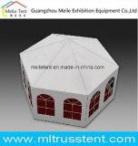 Durchmesser 10m Morden Exhibtion sechseckiges Pagode-Zelt mit Glaswand