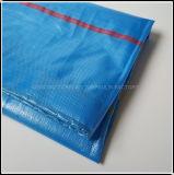 Bleu clair imperméable PE bâche de piscine couvre