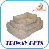 Bon marché en daim imprimé chien chat lit Pet (WY1204031-3A/C)