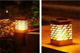 100 % lampe solaire LED flamme sur le jardin de la lumière avec une lumière chaude Lampe Solaire de mise à jour de la Décoration de lampe solaire