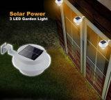 Indicatore luminoso solare della parete della rete fissa dei 3 LED dell'indicatore luminoso solare esterno della grondaia