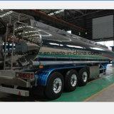 40000 Liter Spiegel-Aluminiumdieselbecken-halb Schlussteil-mit Luft-Aufhebung