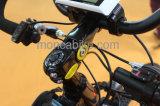 快適で黒い電気自転車の青いEバイクEのバイクのスクーターのShimano 9の速度ギヤ無声モーター