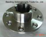 Flange de aço inoxidável finalizado com usinagem CNC