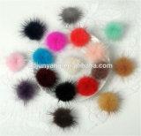 Fiocchetti Pendant Keychain della pelliccia del Pompom dell'accessorio di modo del visone della sfera su ordinazione della pelliccia