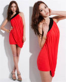 su Fashion Sexy Slim Pleated Irregular Dress di Sale Women