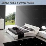 A059 de cuero moderno Mueble de casa cama