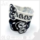 Bracelet populaire de silicones, bracelet en caoutchouc
