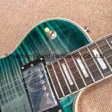 파랑 (GLP-559)에 있는 프레임 단풍나무 상단 관례 Lp 일렉트릭 기타