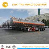 petrolero de aluminio del carburante-aceite 45-55cbm/de gasolina con 1-6 compartimientos