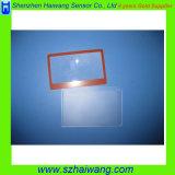 Magnifier plástico personalizado Hw808 da cabeça da lente do tamanho Pocket do cartão de tamanho