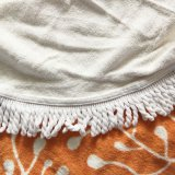 Het grote die Katoen van Mandala van de Douane om de Handdoek van het Strand wordt afgedrukt