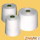 60% 40% Viscise Polyeater Ne 30/1 Raw Белый Ringspun пряжа