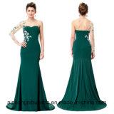 Asymetrisches langes Hülsen-Abend-Kleid