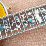 Lp 일렉트릭 기타 (GLP-497)를 묶는 전복 꽃에 의하여 박아 넣어지는 Fingerboard
